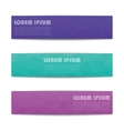 A set of web banners vector image vector image