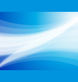 abstract blue wave rays background vector image vector image