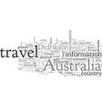 australia travel cautionary measures vector image vector image