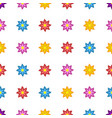 background bright colored stylized flowers vector image vector image