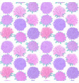 beautiful seamless pattern with vintage flowers vector image vector image