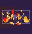 birds cartoon banner design vector image vector image