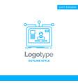 blue logo design for interface website user vector image vector image