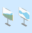 business chart board set of graphs data vector image