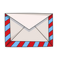 cartoon image of envelope icon mail symbol vector image vector image