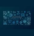 cctv blue horizontal line vector image