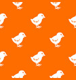 chick pattern seamless vector image vector image