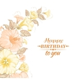 color garland flowers vector image