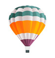 colorful hot air balloon isolated on white vector image vector image