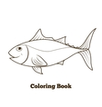 Coloring book tunny fish cartoon educational vector image vector image