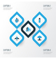 combat colorful icons set collection of fighter vector image vector image