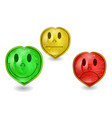 emoticons set on white vector image vector image