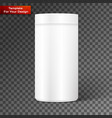 empty white cylindrical box vector image vector image