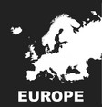 europe map icon flat europe sign symbol with on vector image vector image