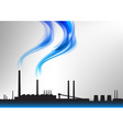 factory white curve blue vector image vector image