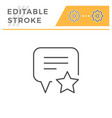 feedback editable stroke line icon vector image