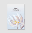 flowers and foliage water lily bloom for wedding vector image
