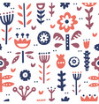folk art pattern vector image