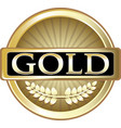 gold label icon vector image vector image