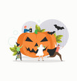 happy halloween party celebration flat vector image