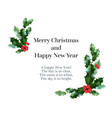 holly festive card vector image