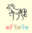 Horse decorative vector image vector image