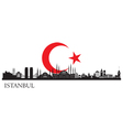 Istanbul city silhouette vector image vector image