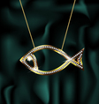 jewelry fish vector image vector image