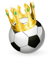 king of football soccer vector image vector image