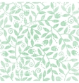 leaves and swirls textile seamless pattern vector image vector image