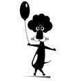 lion with a balloon isolated vector image