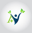 logo design for health care vector image vector image