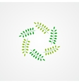 Logo green branches vector image