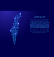 map israel from printed board chip and radio vector image vector image