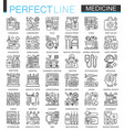 medical outline concept symbols perfect thin line vector image vector image