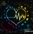 medicine black golden background vector image vector image