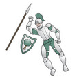 medieval warrior vector image vector image