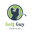 mens golf sports logo design vector image vector image