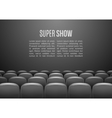 movie theater with row gray seats premiere vector image