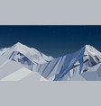 night mountains low poly blue sky vector image vector image