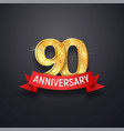 ninety anniversary logo template 90th years vector image vector image