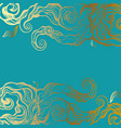 ocean waves hand drawn vector image vector image