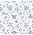 pixel art winter snowflakes pattern vector image