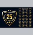 premium golden anniversary logotype big vector image vector image