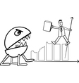 recession in business cartoon vector image