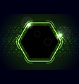 retro neon 80s shiny hexagon abstract background vector image