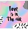 Romantic memphis card vector image vector image