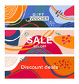 sale banner with text on abstract background