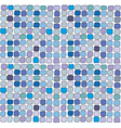 Seamless blue vitrage square texturebackground vector image vector image
