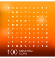 set 100 icons for web design vector image vector image
